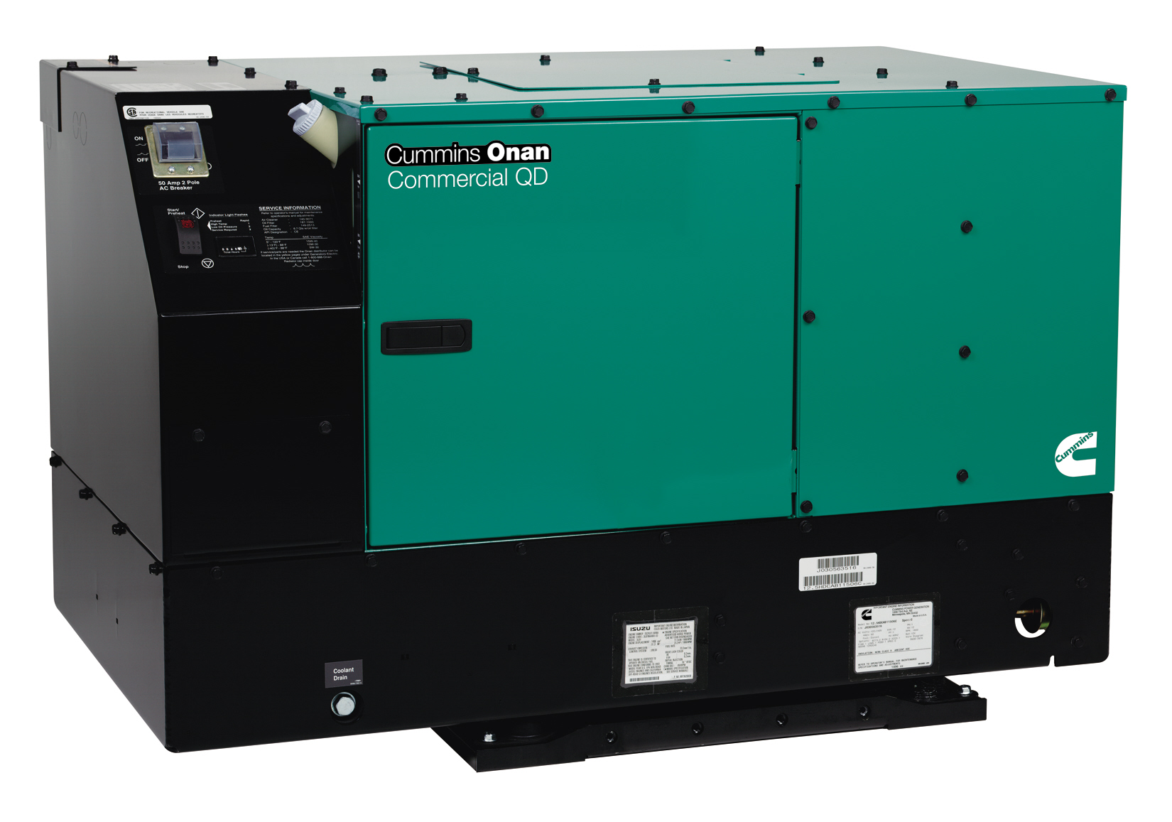Cummins Onan Commercial Qd 12 0 Diesel 120 240v 12 0hdkcd