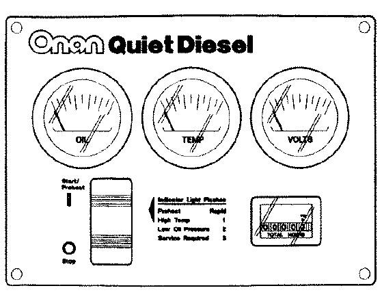 Cummins Onan Remote Gauge Panel RV QD 300 5027 Emergency