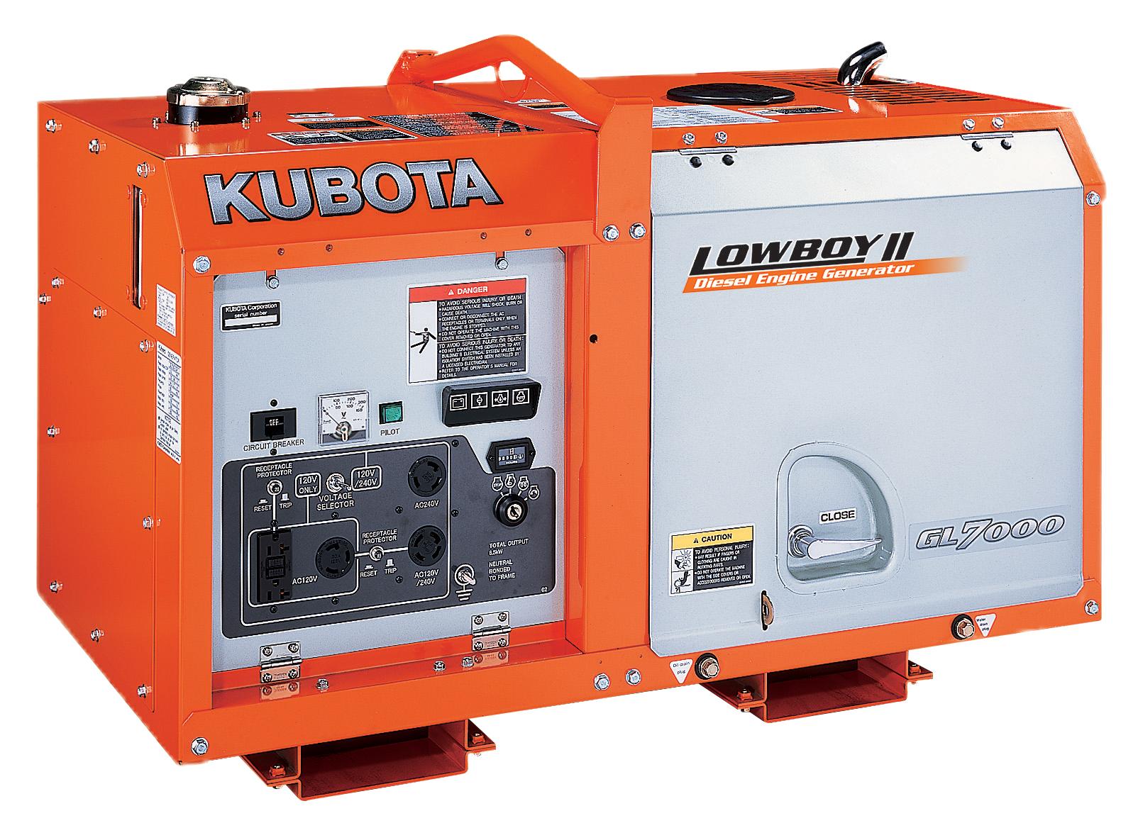 Kubota Diesel Generator Gl Series Gl7000 Emergency Backup