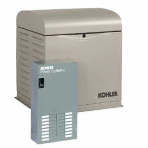Kohler 8RESVL-100LC12 8kW Air Cooled Standby Generator Package with 100 Amp 12 Space Load Center Automatic Transfer Switch