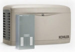 Kohler 14kW Air Cooled Standby Generator and 100 Amp 16 Space Load Center Automatic Transfer Switch | 14RESAL-100LC16