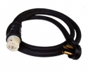 75 Foot 50 Amp Generator Cord with NEMA 1450 Male and Locking C6364 Female By Generac