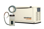 Generac Guardian 16kW Standby Generator NG/LP Single Phase Steel Pre Packaged with 100 Amp 16 Circuit Load Center ATS | 6461