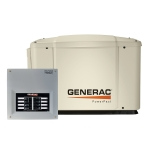Generac Guardian PowerPact 7kW Standby Generator NG/LP Single Phase Pre Packaged with 8 Circuit Load Center ATS without Whip | 6519