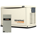 Generac Guardian 20kW Standby Generator NG/LP Single Phase Steel Pre Packaged with 200 Amp Service Rated ATS | 6729