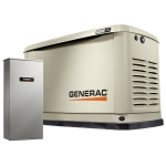 9kW Generac Guardian Home Standby Generator with 100-Amp 16-Circuit Load Center ATS | 7030