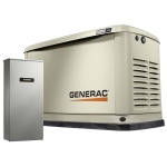 9kW Generac Guardian Home Standby Generator with 100-Amp 16-Circuit Load Center ATS | 70301