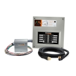 Generac HomeLink 50 Amp Manual Transfer Switch Kit for Portable Generators | 9855